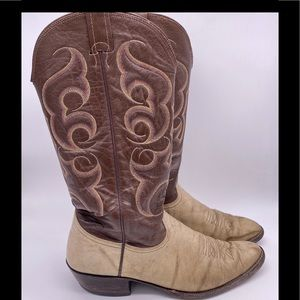 Nocona Cowboy Boots Bullhide Size 11 1/2 D